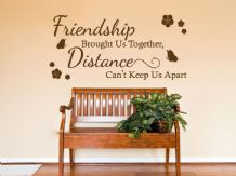 "Friendship Wall Quote ""Friendship brought us.."" Wall Art Sticker, Transfer"